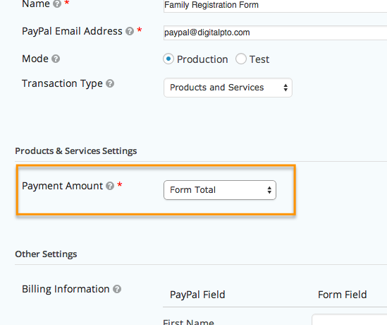Adding Paypal to your Form – Digital PTO Help Center